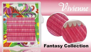 "VIVIENNE FANTASY COLLECTION ""PINK"" 0.07 D MIXED LENGTH 8-13mm 6 LINES"