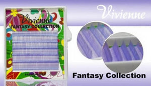 "VIVIENNE FANTASY COLLECTION ""LIGTH PURPLE"" 0.07 D MIXED LENGTH 6 LINES 8-13mm"