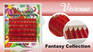 "VIVIENNE FANTASY COLLECTION ""RED"" MIXED LENGTH 6 LINES D.10 8-13mm"