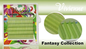 "VIVIENNE FANTASY COLLECTION ""PISTACHIO"" MIXED LENGTH 6 LINES D.10  8-13mm"
