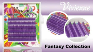 "VIVIENNE FANTASY COLLECTION ""BLUEBERRY"" MIXED LENGTH 6 LINES D.10  8-13mm"