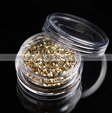 Glitter Dust - Hexi-mixed sizes Light Golden