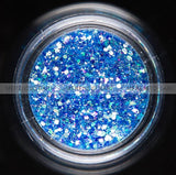 Glitter Dust - Hexi-mixed sizes Shining Dark Blue