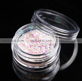 Glitter Dust - Hexi-mixed sizes Shining White