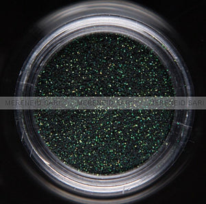 Glitter Dust - Microfine Transparent Hologram Black Green
