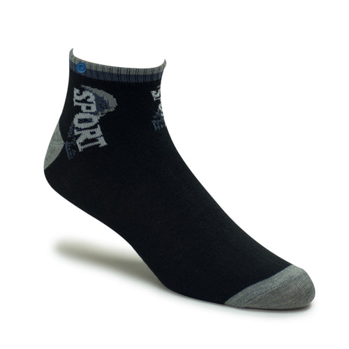 Snappy Sport Socks - Black & Gray