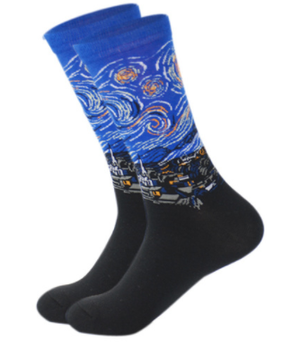 "The ""Starry Night"" Art Socks"