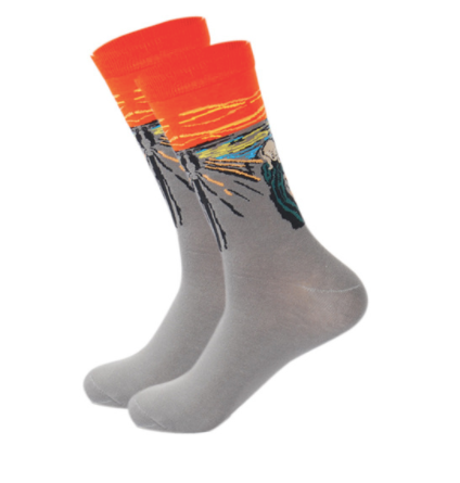 """The Great Wave Off Sockanagawa"" - Art Socks"