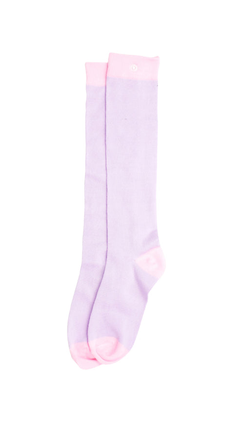 Knee High Socks - Pink & Purple Perfection - Snap Socks