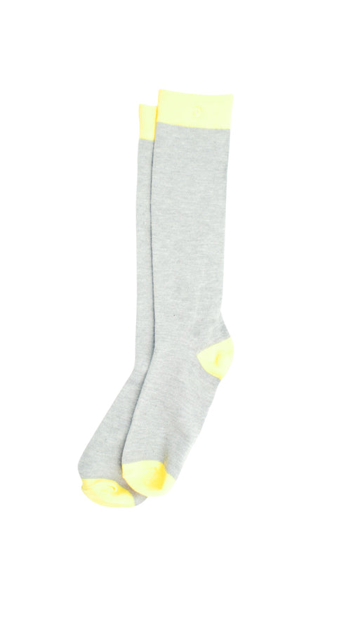 The Knee High Socks - Youthful Yellow & Gray - Snap Socks