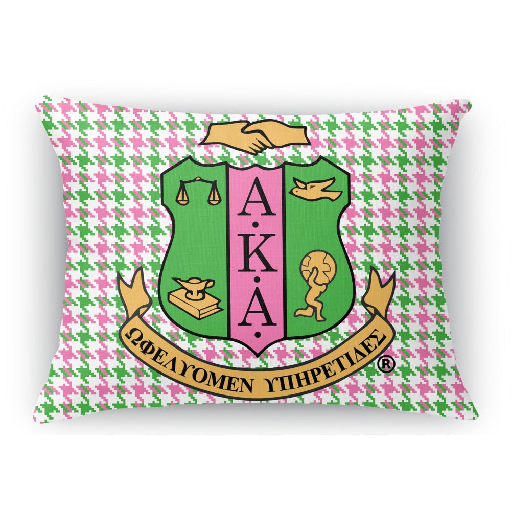 AKA Throw Pillow - Argyle & Houndstooth
