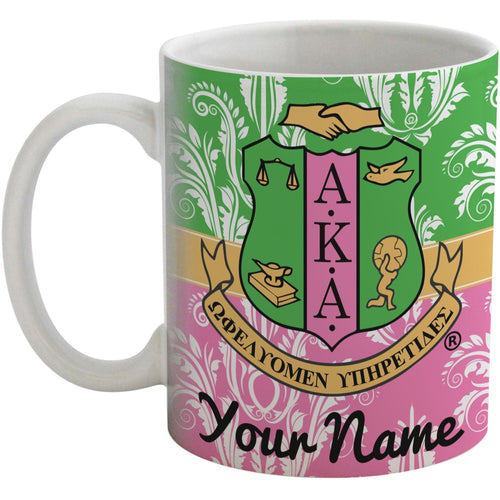 AKA & Damask Coffee Mug