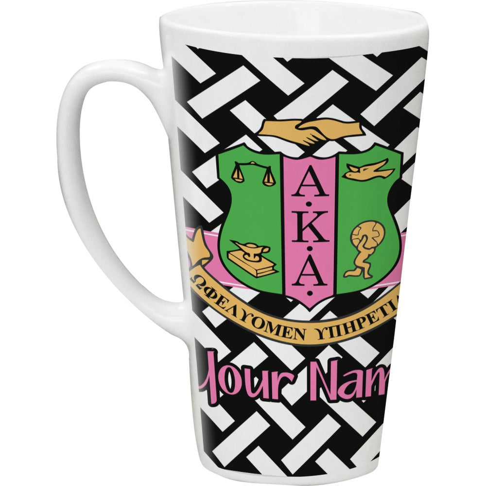 AKA & Basket Weave Latte Coffee Mug
