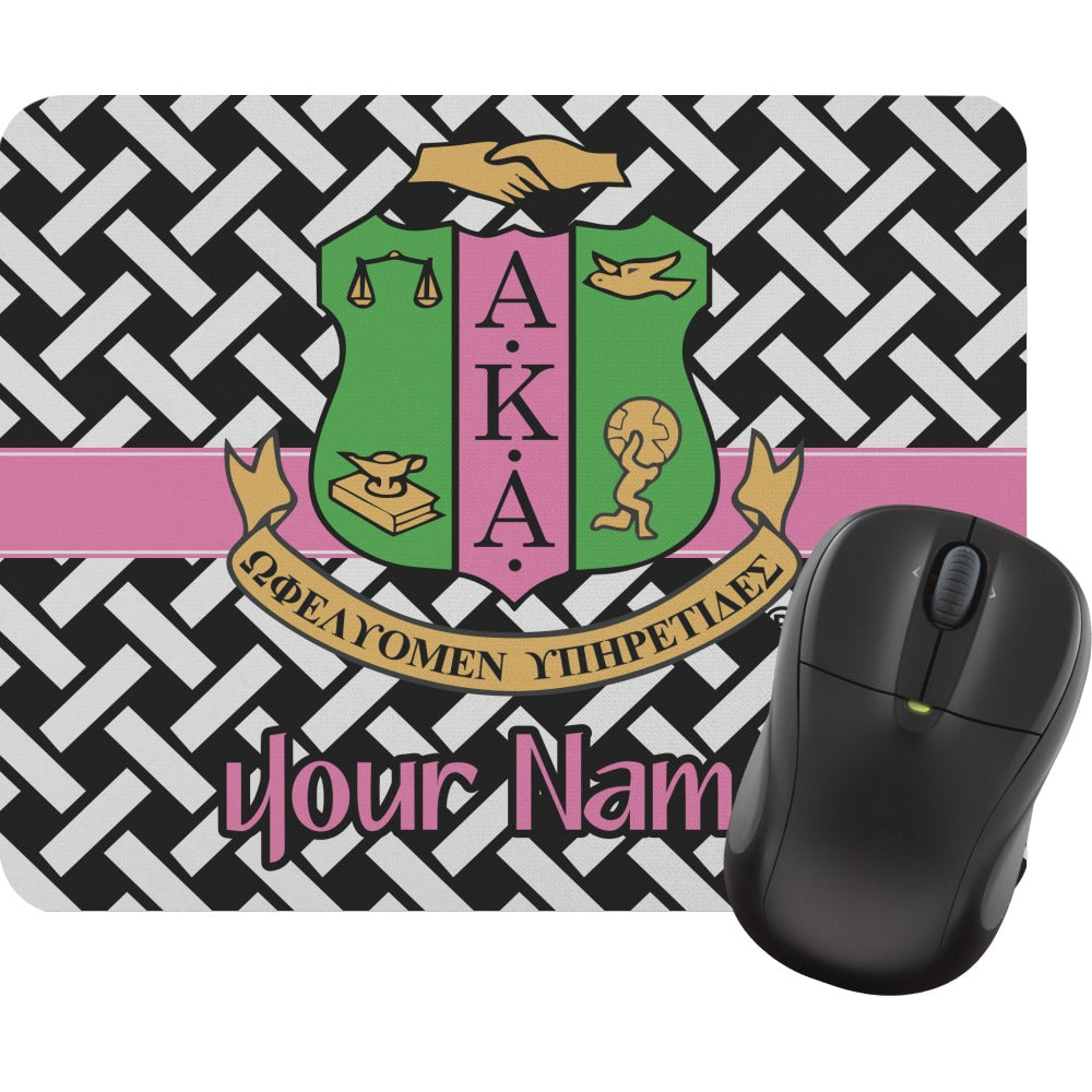 Personalized AKA & Basket Weave Mouse Pads