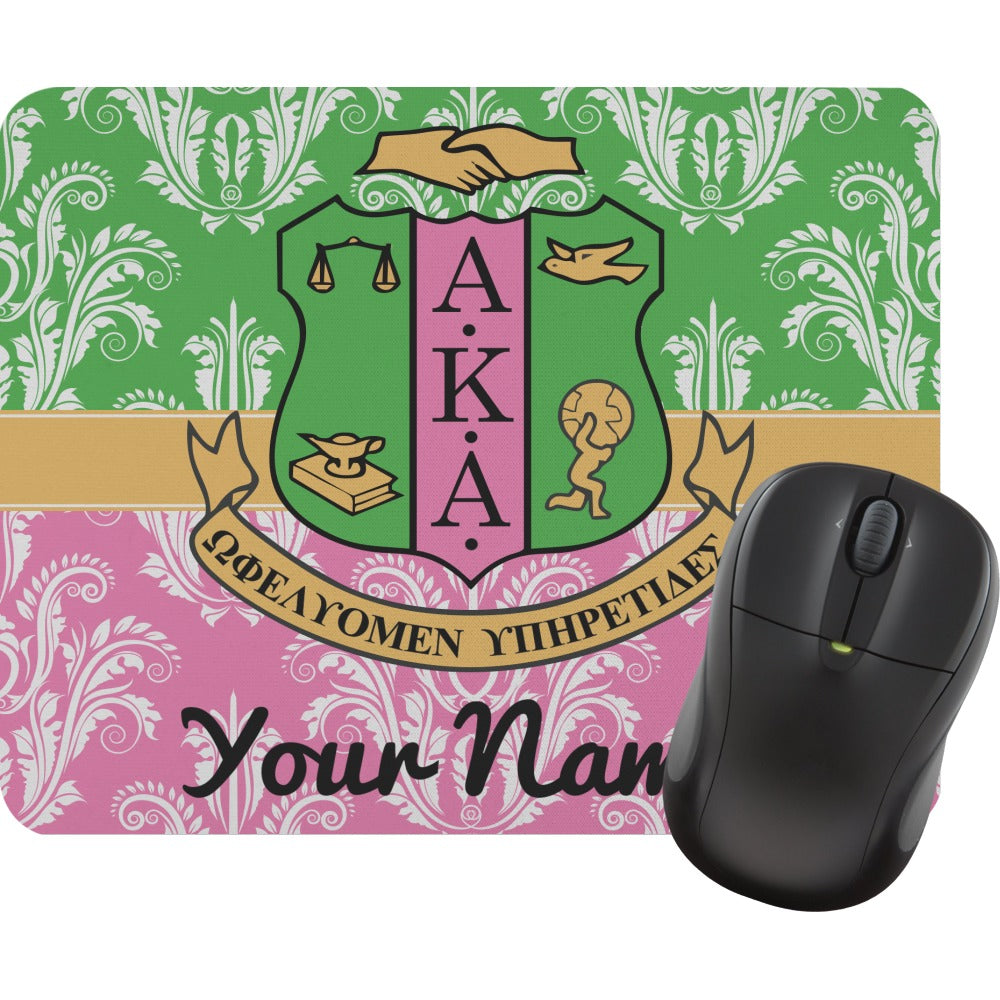 Personalized AKA 2 Color Damask Mouse Pad