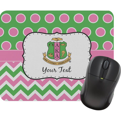 Personalized AKA Chevron & Polka Dots Mouse Pad