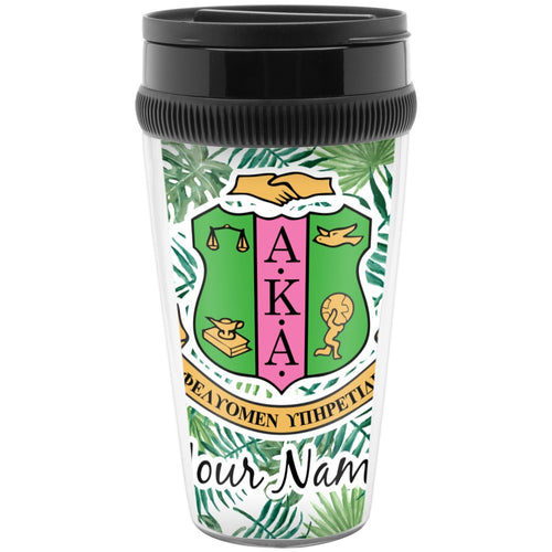 AKA Tropical Leaves Travel Mug