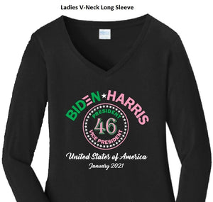 Biden-Harris Presidential Black Shirt