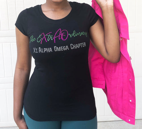 The EXtrA Ordinary Xi Alpha Omega Chapter: Rhinestone Tee