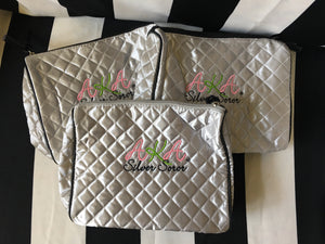 Pearlfection Silver Soror Beauty Bag