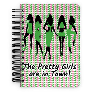 Personalized AKA Pink & Green Notebook