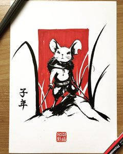 Year of the rat - Original painting