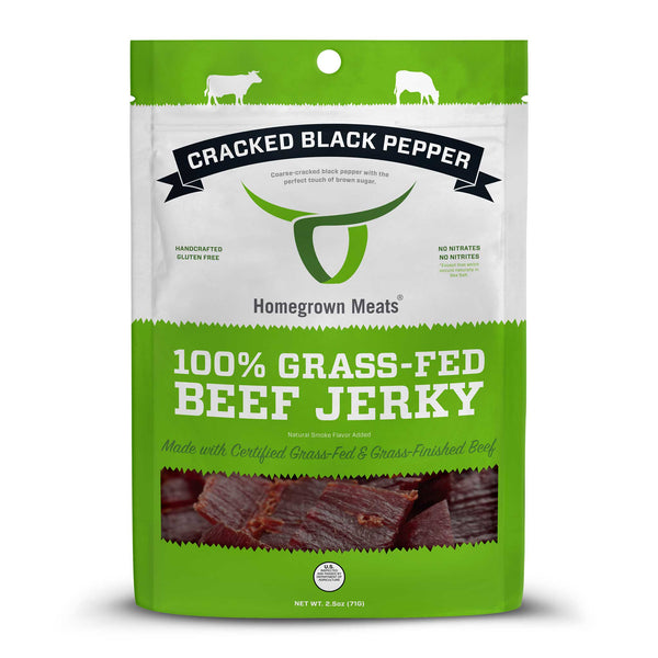 Cracked Black Pepper - 100% Grass-fed Beef Jerky