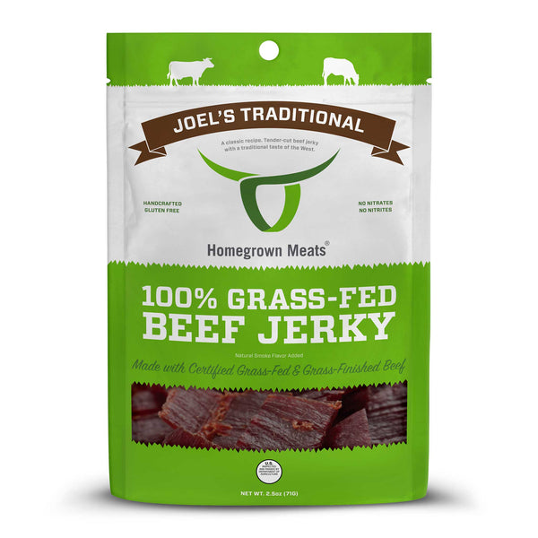 Joel's Traditional - 100% Grass-Fed Beef Jerky
