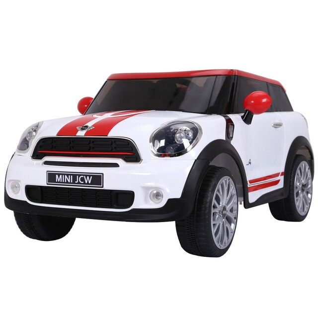12V Electric MINI PACEMAN Kids Ride On Car Licensed R/C Remote Control MP3 White