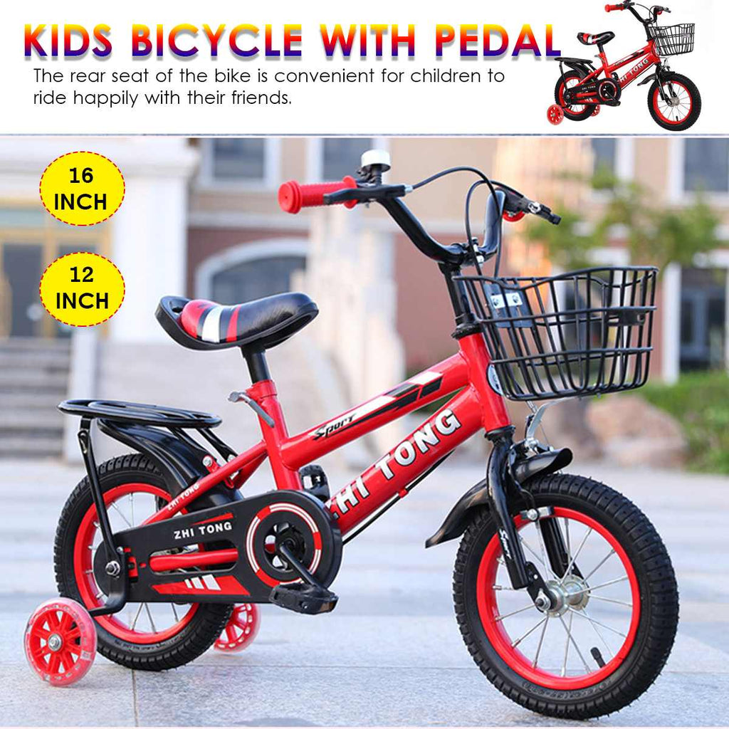 16inch Tricycle Kids Balance-Car Infant Baby Bicycle Pedal Children  Bicycle-Tool Trike Kids Ride Bike