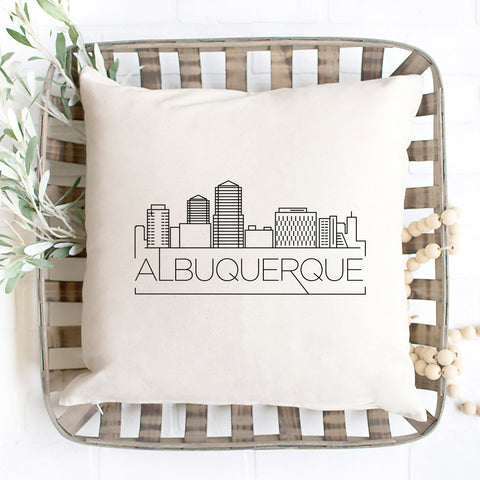 Albuquerque Skyline Pillow Cover