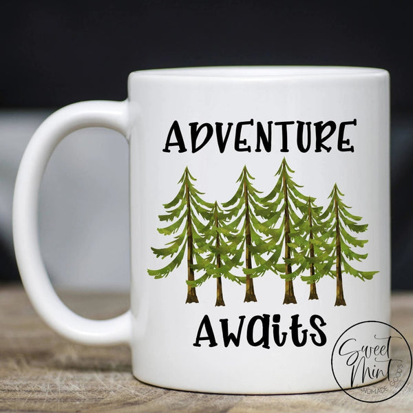 Adventure Awaits Mug - Trees