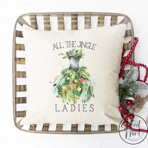 All The Jingle Ladies Pillow Cover - 16 X