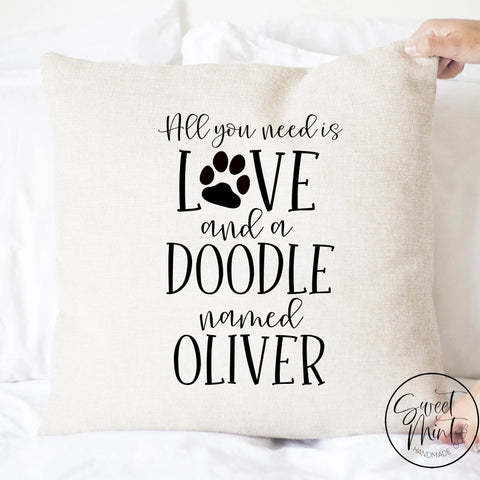 All You Need Is Love And A Doodle Pillow Cover - 16X16