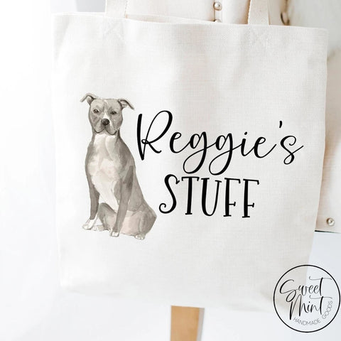 American Staffordshire Terrier Dog Tote Bag