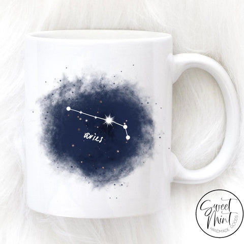 Aries Mug - Navy Blue
