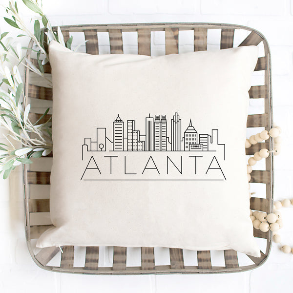 Atlanta Skyline Pillow Cover