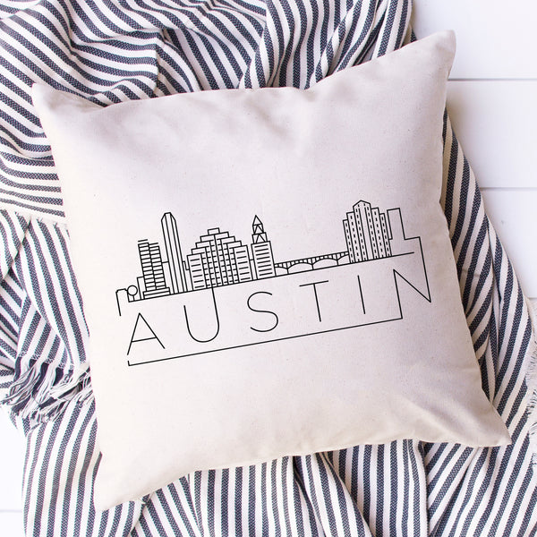 Austin Skyline Pillow Cover