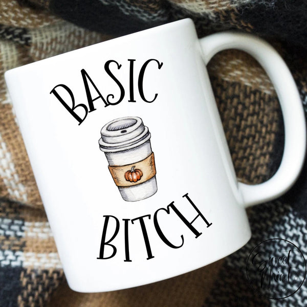 Basic Bitch Mug - Funny Fall / Autumn With Pumpkin Spice Coffee Cup