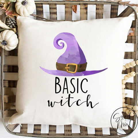 Basic Witch Pillow Cover - Halloween Fall Autumn 16X16