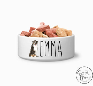 Bernese Mountain Dog Custom Bowl Pet