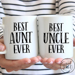 Best Aunt Ever & Uncle Mug Set