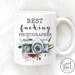 Best Fucking Photographer Mug - Camera Wedding