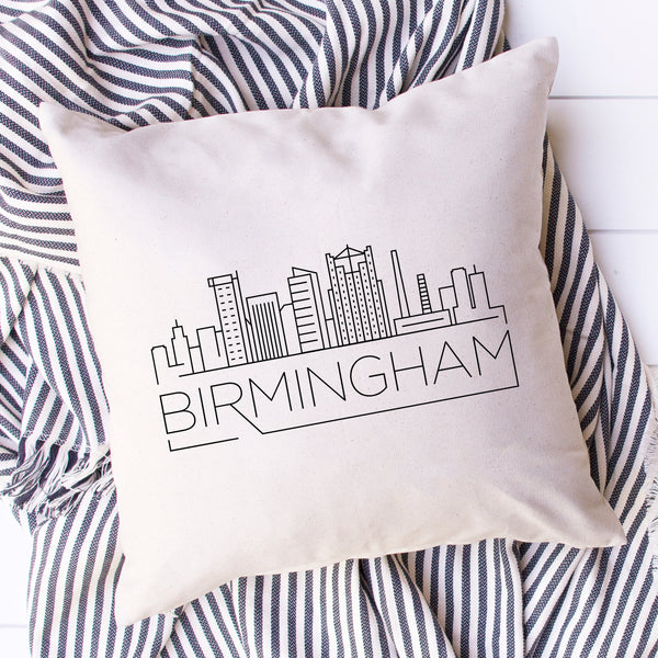 Birmingham Skyline Pillow Cover