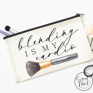 Blending Is My Cardio Cosmetic Bag Makeup Brush Bag Cosmetic