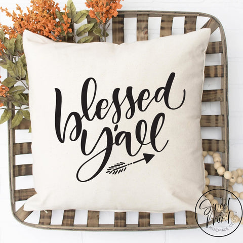 Blessed Yall Pillow Cover - Fall / Autumn 16X16