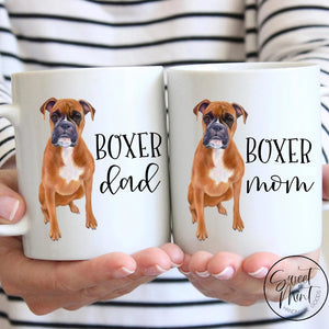 Boxer Mom & Dad Mug