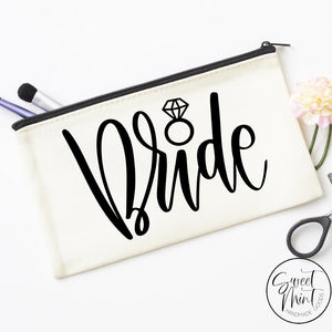Bride Cosmetic Bag - Makeup Gift For