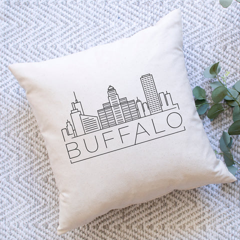 Buffalo Skyline Pillow Cover