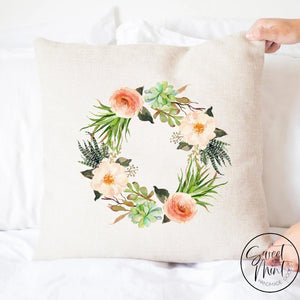 Cactus Wreath Pillow Cover - 16X16